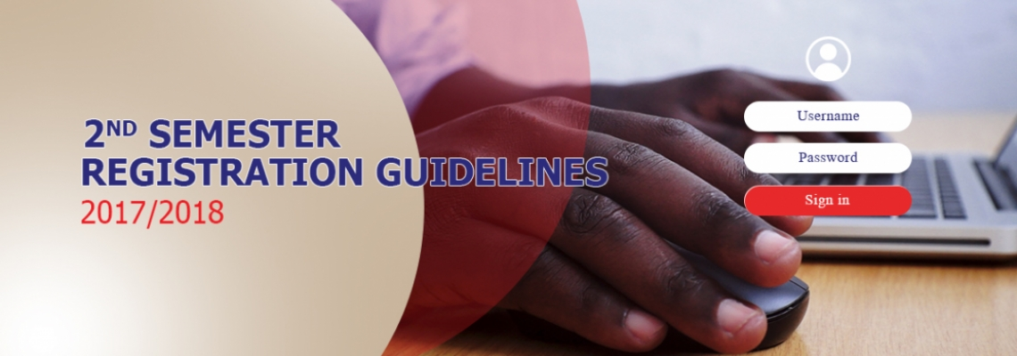 UEW 2017 / 2018 2nd Semester Registration Guidelines